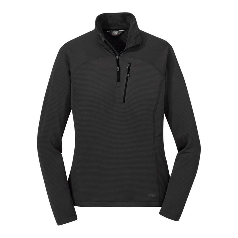 Outdoor Research Vigor Quarter Zip Womens Long Sleeve Fleece Top- Storm