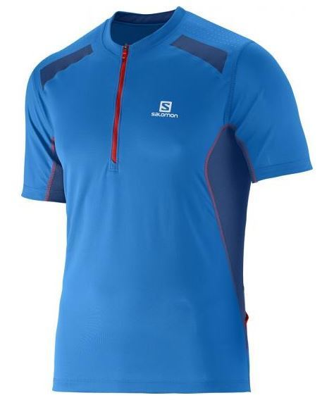 Salomon Fast Wing Mens T-Shirt - Union Blue