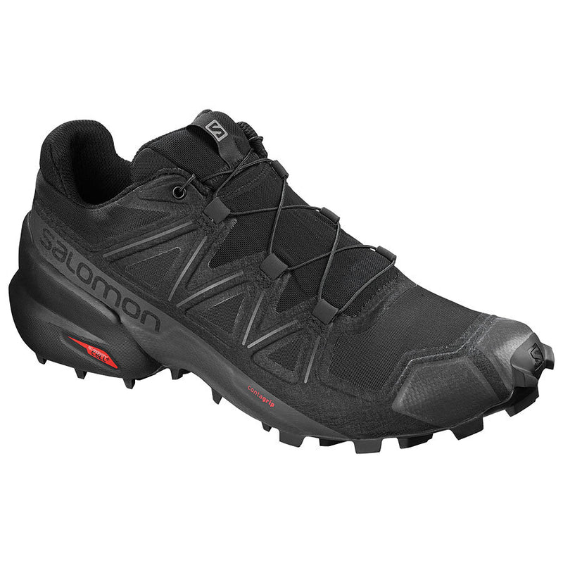 Salomon Speedcross 5 Mens Trail Running Shoe - Black/Black/Phantom