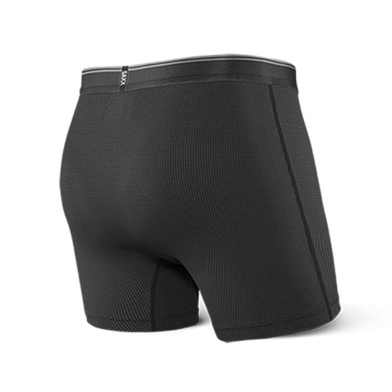SAXX Quest Mens Boxer Fly Brief - Black