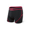 SAXX Kinetic Mens Boxer Brief - Black/Neon Red