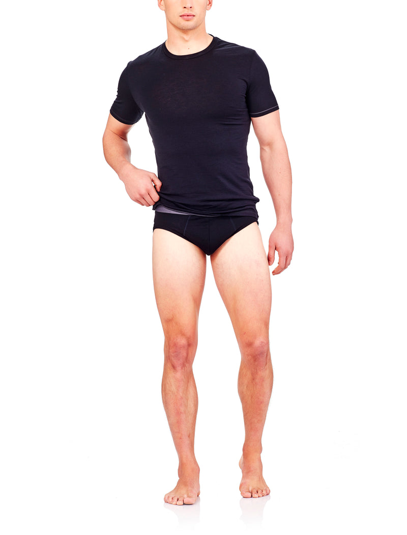 Icebreaker Anatomica Mens Briefs - Black