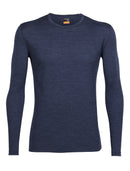 Icebreaker Oasis Long Sleeve Crewe Mens Top - Fathom Heather