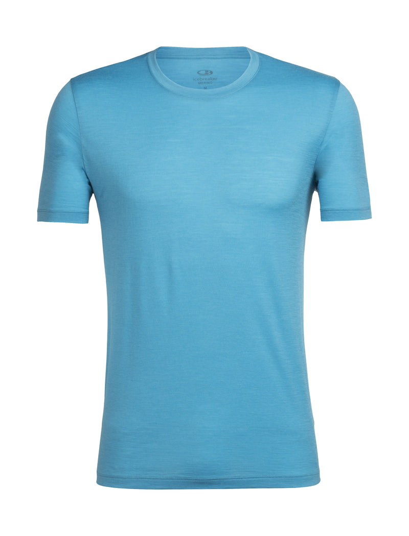 Icebreaker TechLite Short Sleeve Crew Mens Top - Mediterranean