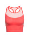 Icebreaker Meld Zone Womens Long Sport Bra - Poppy Red/Sorbet