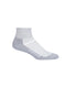 Icebreaker Multisport Light Mini Womens Socks - Blizzard Heather/White