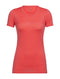 Icebreaker Tech Lite Short Sleeve Low Crewe Cadence Womens T-Shirt - Poppy Red