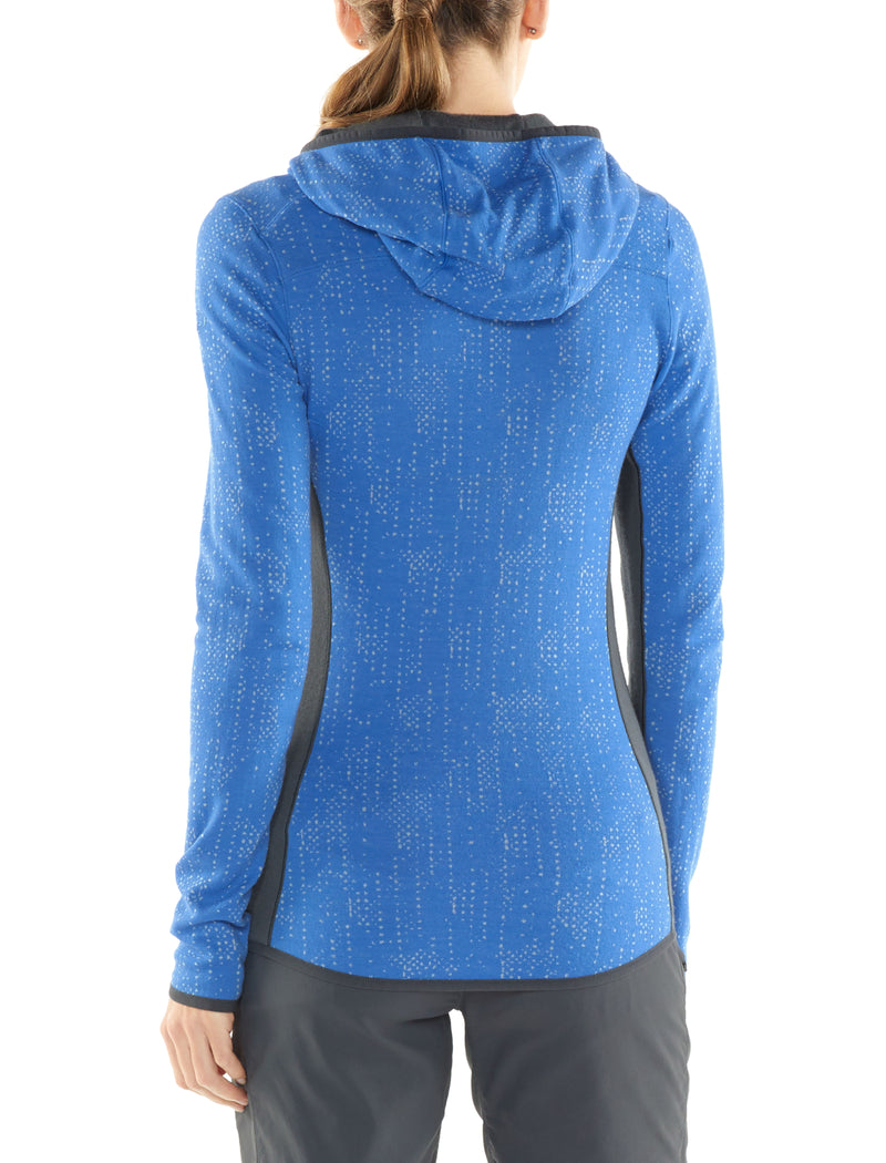 Icebreaker Atom Zip Womens Long Sleeve Top - Showers Cove/Monsoon