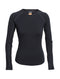Icebreaker Zone Long Sleeve Crewe Womens Thermal Top - Black/Mineral