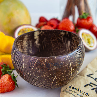 Coconut Shell Bowl ( Polished) & Spoon
