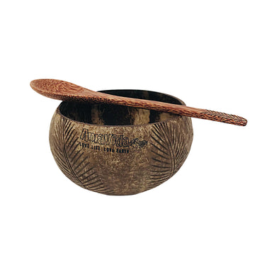 Coconut Shell Bowl ( Natural ) & Spoon