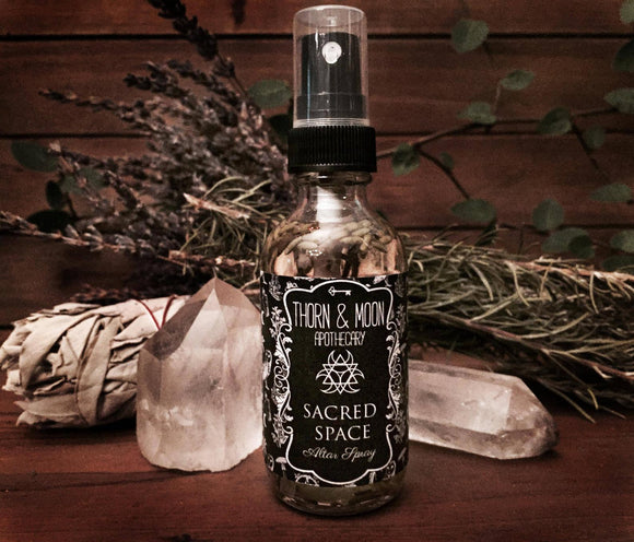 Thorn & Moon Sacred Space Altar Spray - Herbs & Essential Oils - Cleansing