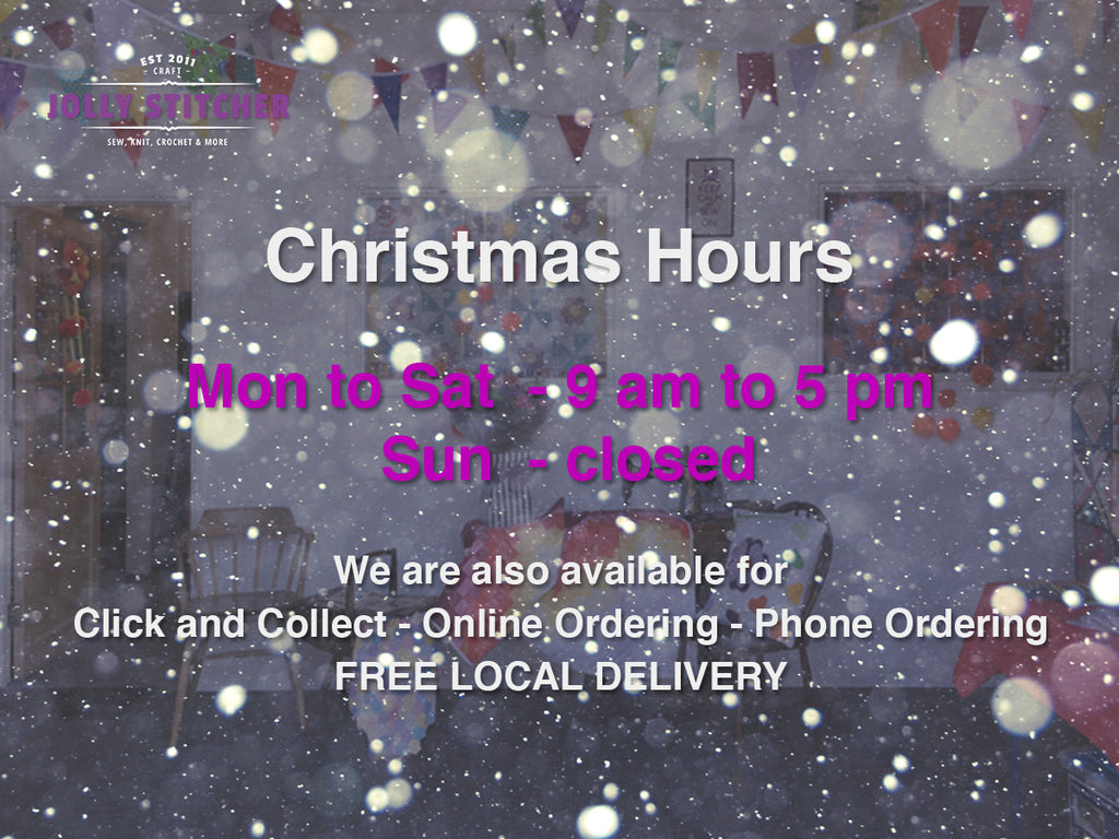 We will open 9am Wednesday 2 December 2020
