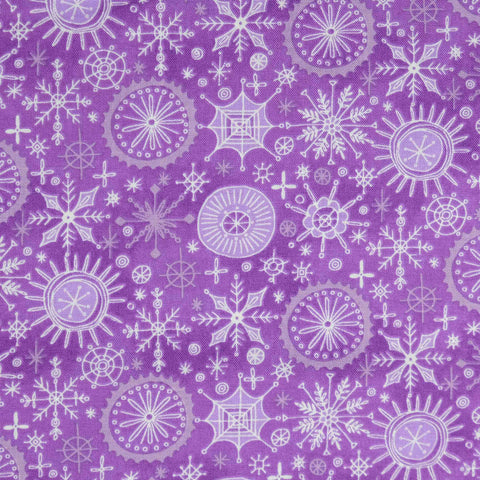 Blank Quilting By Golly Get Jolly 9562-55 Purple