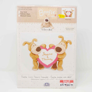 DMC - Boofle Love Heart Sampler Counted Cross Stitch BL1017-68