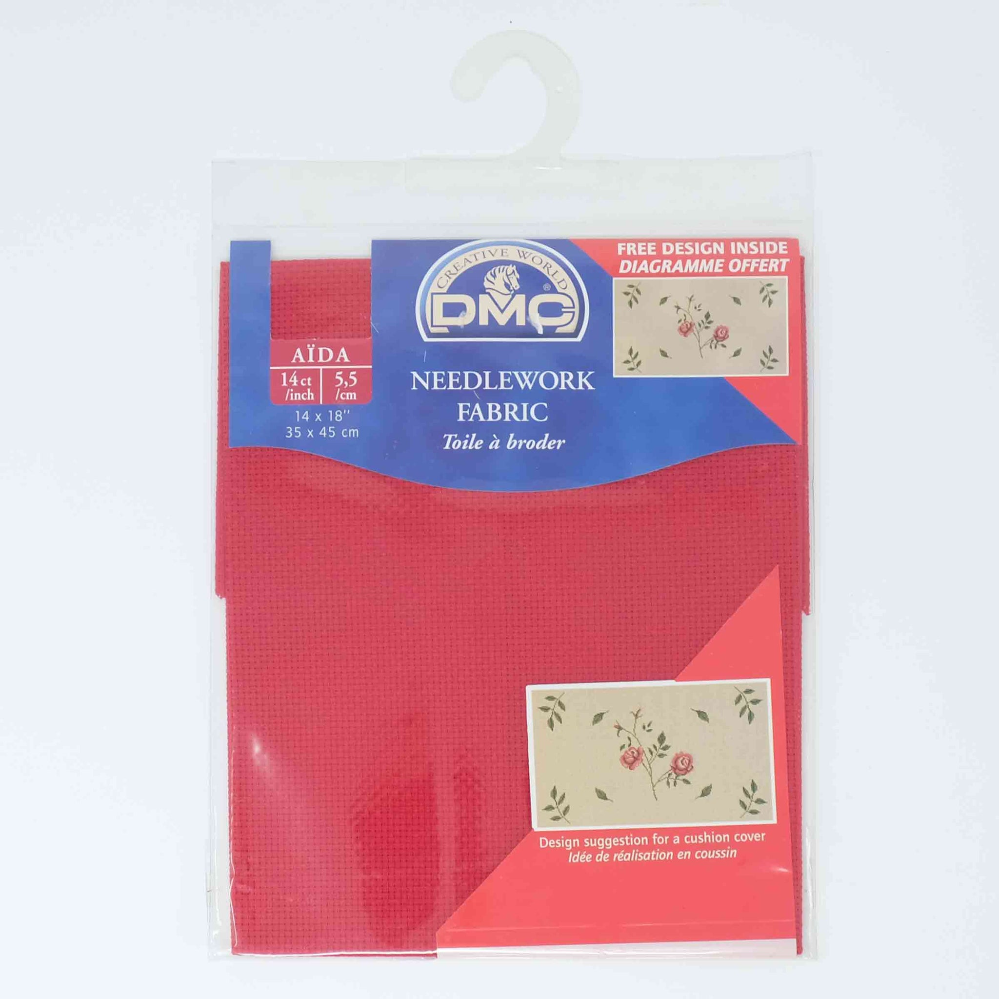 DMC Aida 14 count DC 27 321 Red