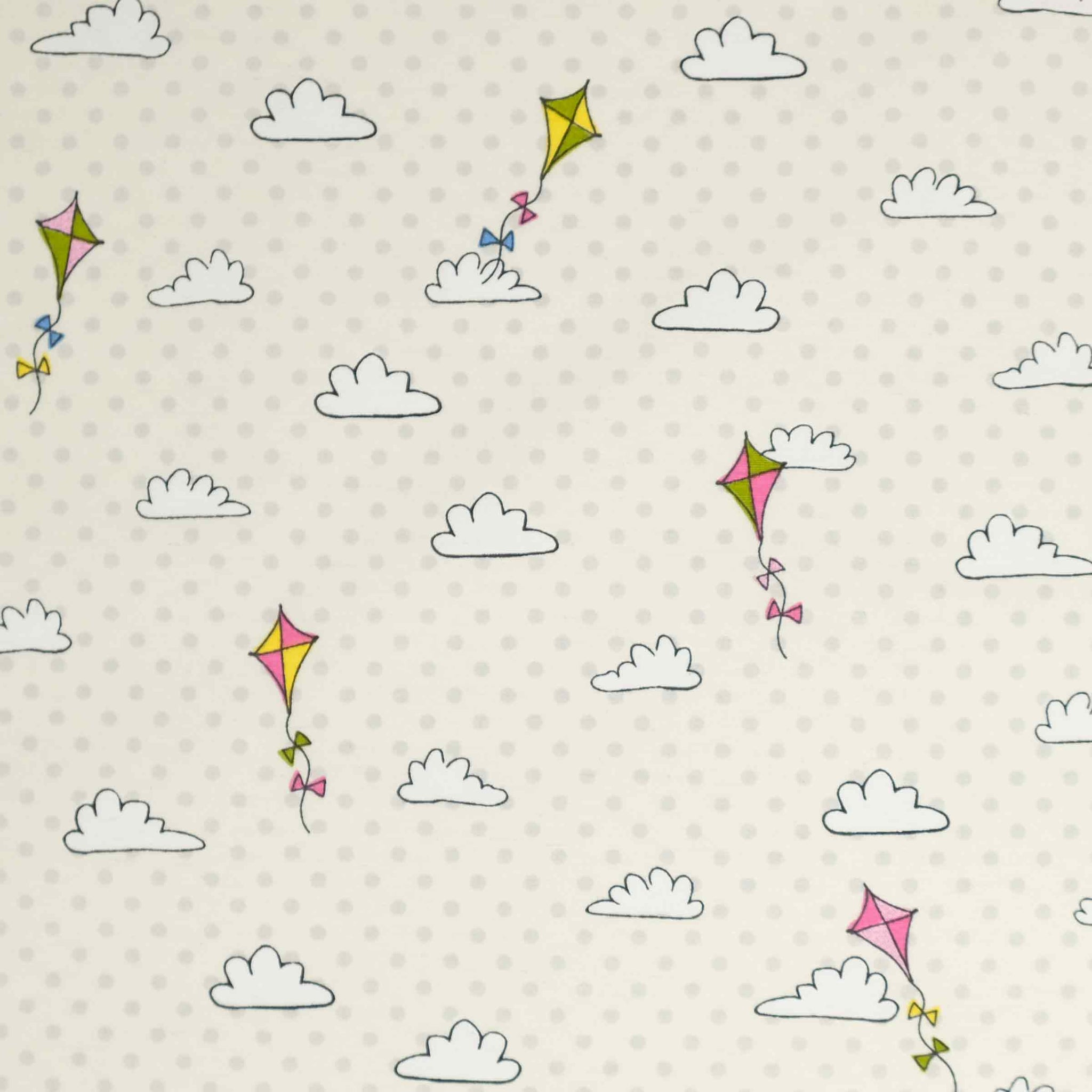 Fryetts Fabrics - Kites and Clouds