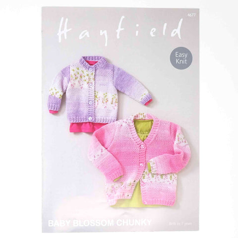 Hayfield Baby Blossom Chunky Pattern 4677 Cardigan