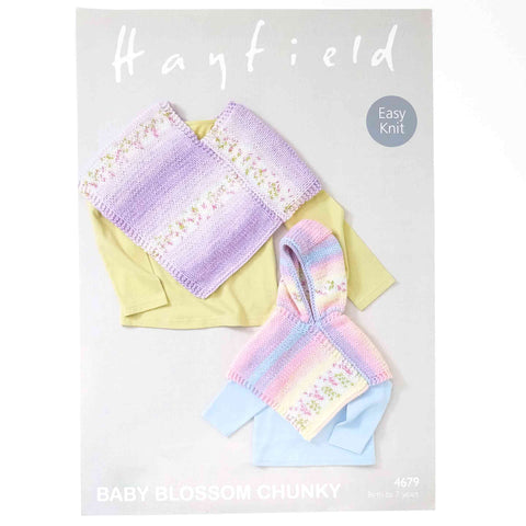 Hayfield Baby Blossom Chunky Pattern 4679 Poncho