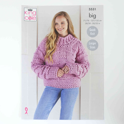 King Cole Big Patterns 5531 Jacket & Sweater
