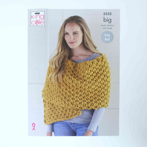 King Cole Big Patterns 5532 Poncho & Wrap