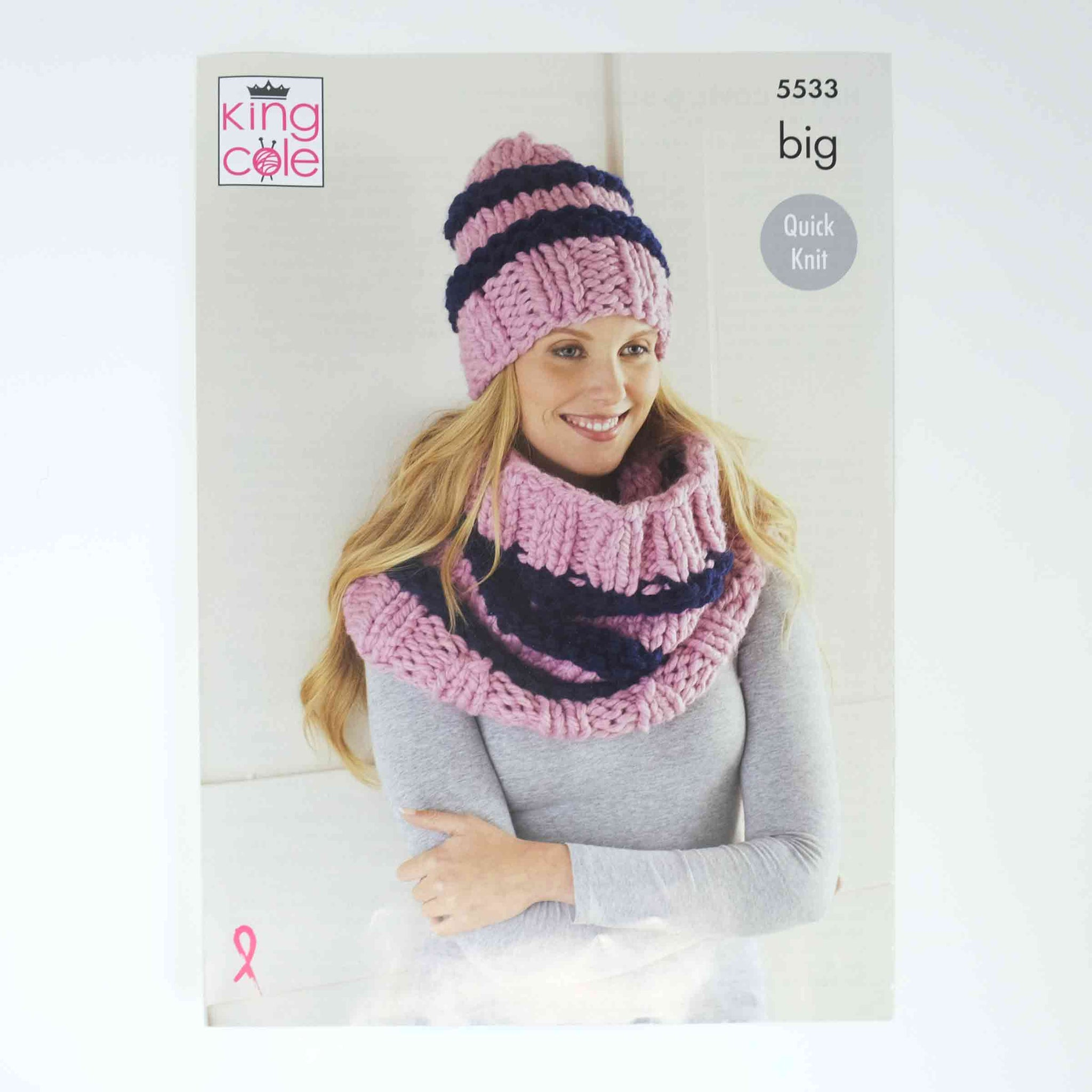 King Cole Big Patterns 5533 Womens Hat Scarf & Cowl