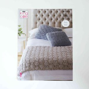 King Cole Big Patterns 5534 Bed Runner & Cushions
