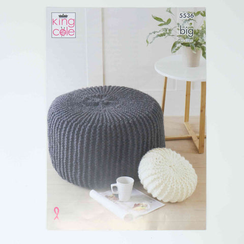 King Cole Big Patterns 5536 Poufs & Cushions
