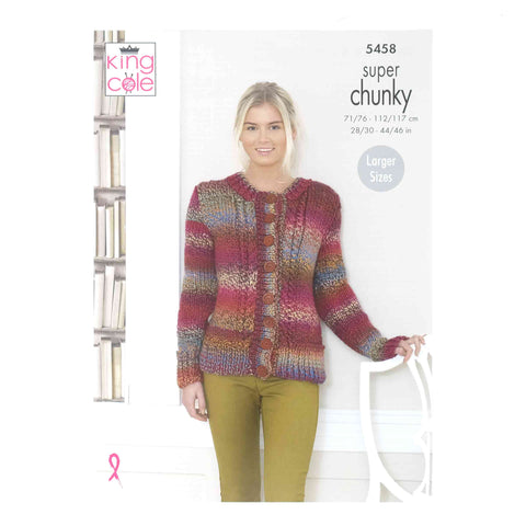 King Cole Chunky Pattern 5458 Sweater & Cardigan