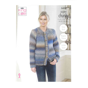 King Cole Chunky Pattern 5459 Cardigan & Sweater