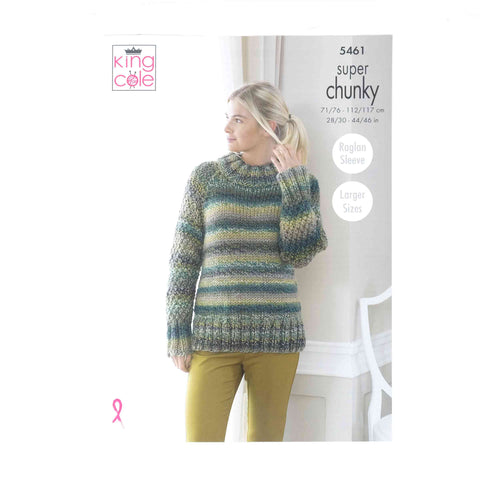 King Cole Chunky Pattern 5461 Sweater, Throw & Cushion