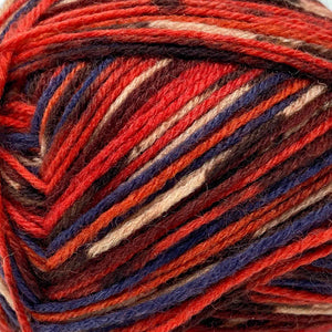 King Cole Zig Zag (4ply) holly berry