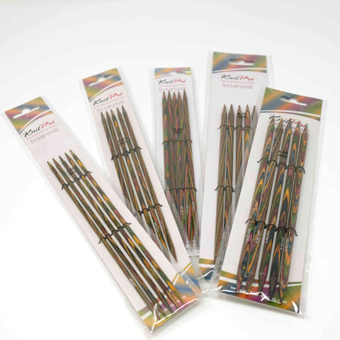 KnitPro - Symfonie Wooden Double Pointed Knitting Needles 20cm