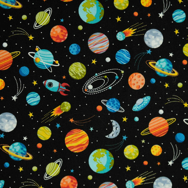 Makower Outer Space and Planets 2270 Black