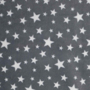 Oddies - Antipil Polar Fleece Printed - FC7459 White Stars on Grey