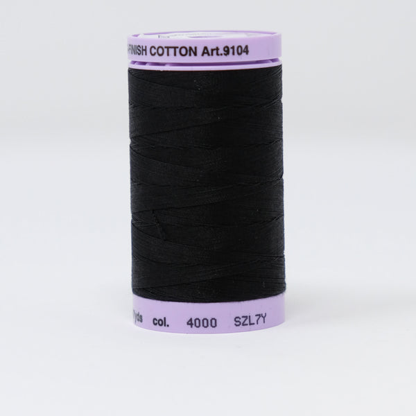 Mettler - Silk-Finish Cotton 50 - 4000 Black