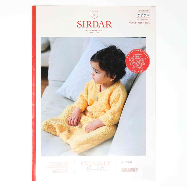 Sirdar Snuggly Bouclette Pattern 5254 Sleeping Bag with Arms
