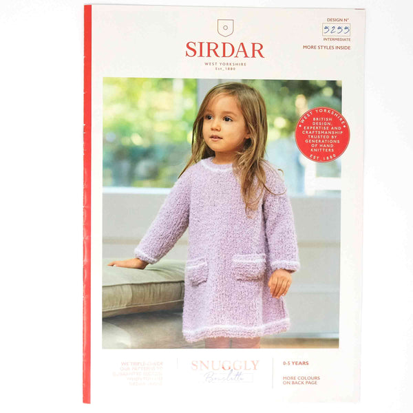 Sirdar Snuggly Bouclette Pattern 5255 Dress and Hat