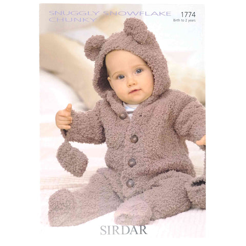 Sirdar Snuggly Snowflake Chunky Pattern 1774 Bear All in One