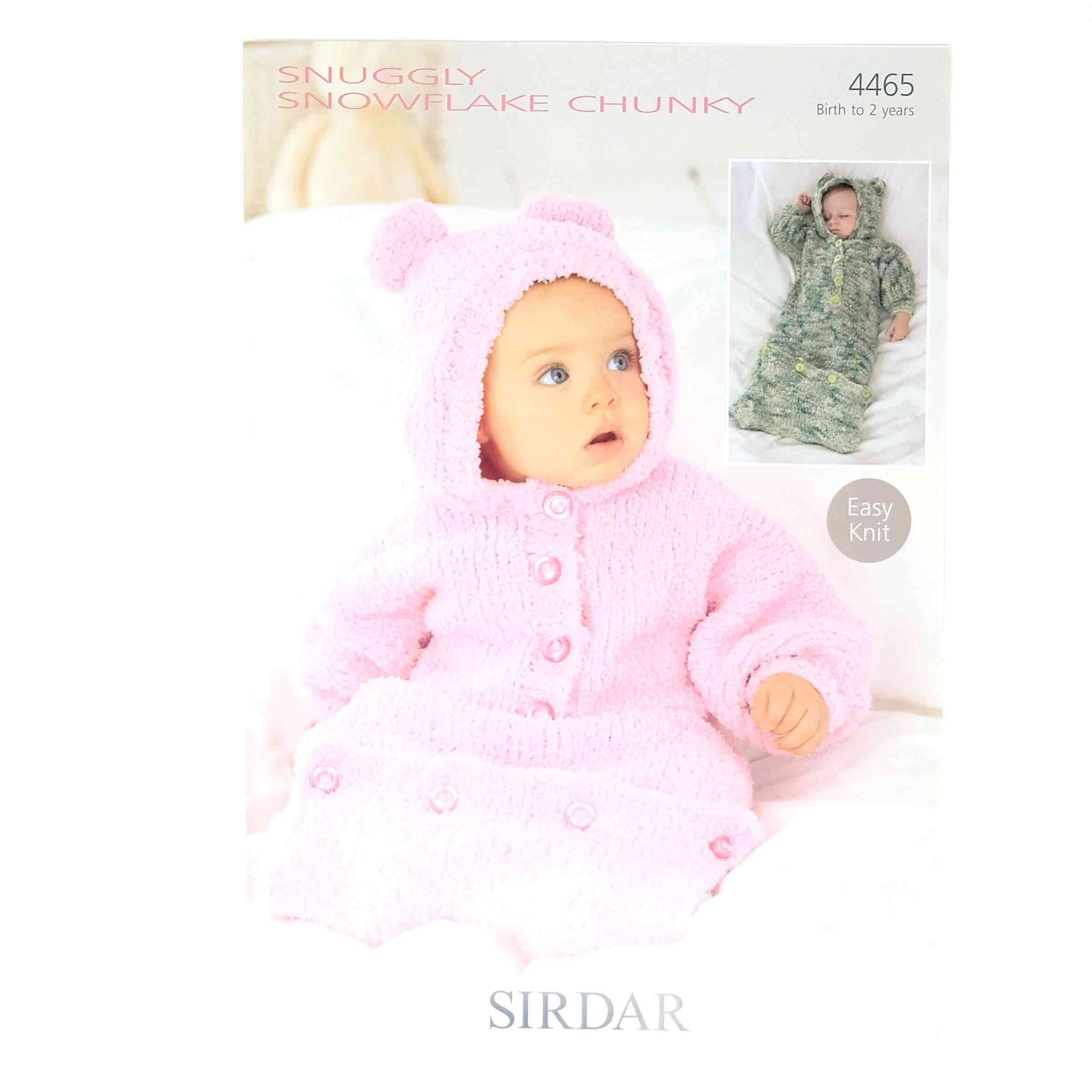Sirdar Snuggly Snowflake Chunky Pattern 4465 Sleeping Bag
