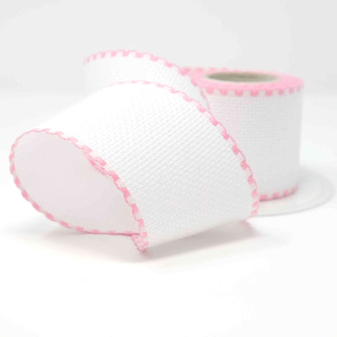 Stitch Garden Aida Band 14 count 50mm (32) White & Pink