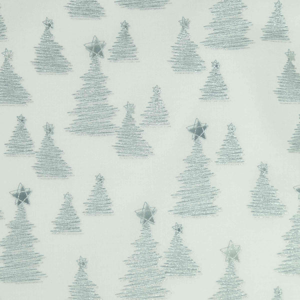 Stof Fabrics Christmas Wonders 4596 103 MCS 19-04 SIlver Trees on White