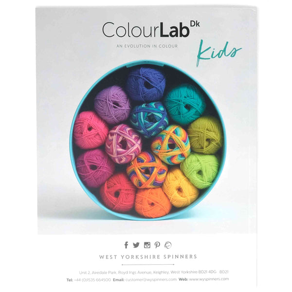 WYS ColourLab DK Kids Pattern Book back