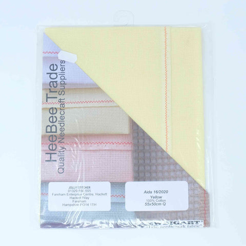 Zweigart Aida 16 count 16 2020 Yellow