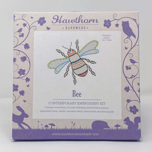 Hawthorn contemporary embroidery kit bee