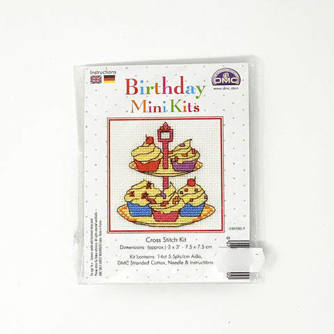 Cross Stitch Kit Birthday cupcakes