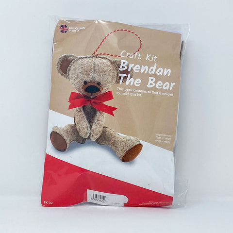Wool Felt Craft Kit Brendan the Bear