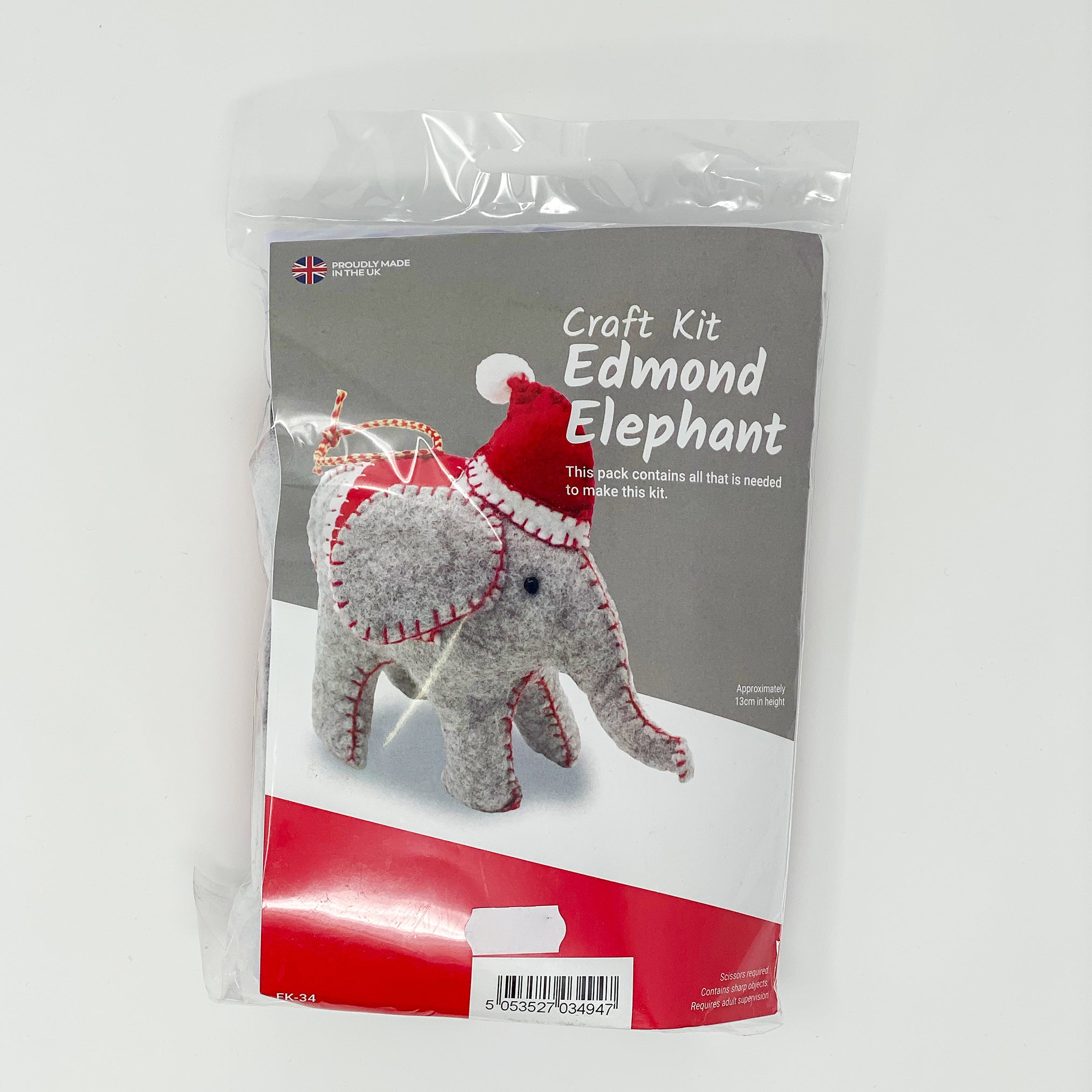 Wool Felt Craft Kit Edmond Elephant
