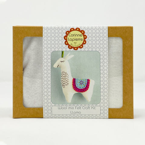 Wool Mix Felt Craft Kit Llama