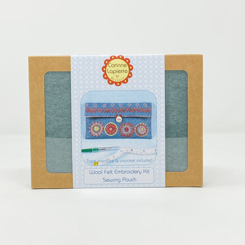 Wool Mix Felt Embroidery Kit Sewing Pouch